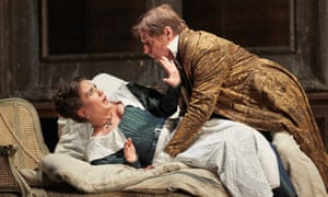Joėlle Harvey as Susanna, Simon Keenlyside as the Count in The Marriage of Figaro.
