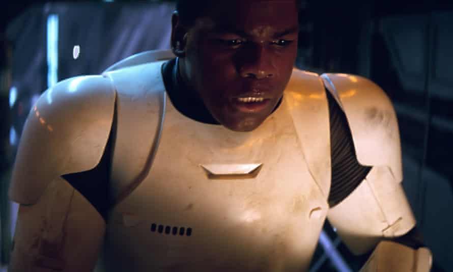 British actor John Boyega as disaffected stormtrooper Finn in Star Wars: The Force Awakens.