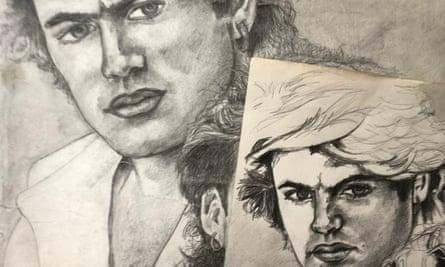 The artist's studies of George Michael, 1984-5.