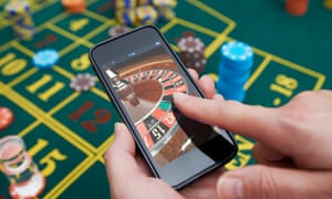 Smartphone and roulette wheel