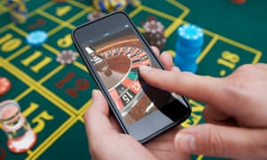 Roulette game being played on smartphone