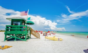 Siesta Key beach at Sarasota, Florida,