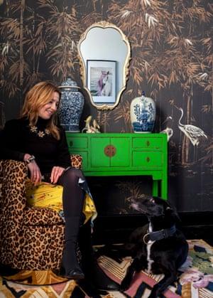Wild at heart: Wendy Morrison with her lurcher, Eddie.