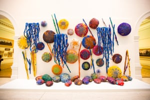 Sheila Hicks' The Embassy of Chromatic Delegates (2015-16) at the Art Gallery of NSW