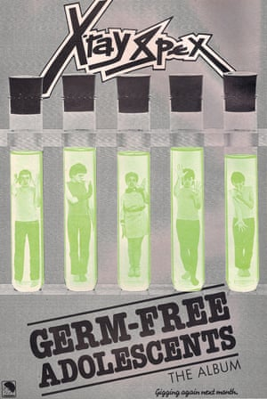 This advert ran in punk magazine ZigZag in 1978 and promotes X-Ray Spex's sole album Germfree Adolescents, now recognised as one of the classics of the era. The band were led by Poly Styrene, then 21