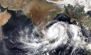 Tropical Cyclone Fani gathers force in the bay of Bengal. It is set to hit the east coast of India on Friday.