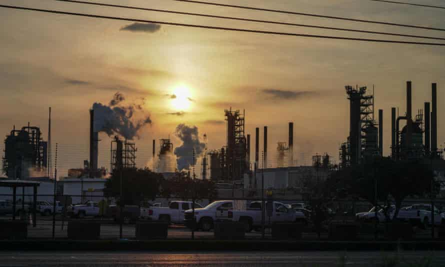 A view of the ExxonMobil oil refinery in Baton Rouge, Louisiana, US.