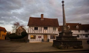 The picturesque market place in the village of Lavenham In Suffolk