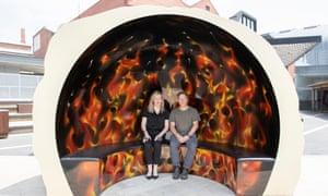 Inside Callum Morton's Trump sculpture Helter Shelter.