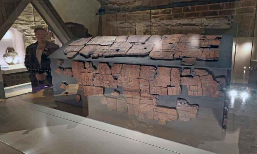 The 1,300-year-old coffin of St Cuthbert in Durham Cathedral
