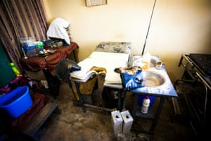 The room where women give birth, at the small health clinic in Nyanyano