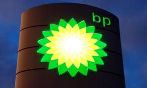 BP logo at a petrol station in Kloten, Switzerland