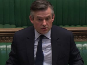 Shadow health secretary Jon Ashworth during the second reading of the coronavirus bill in the Commons on 23 March.