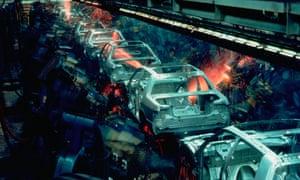 A car factory production line
