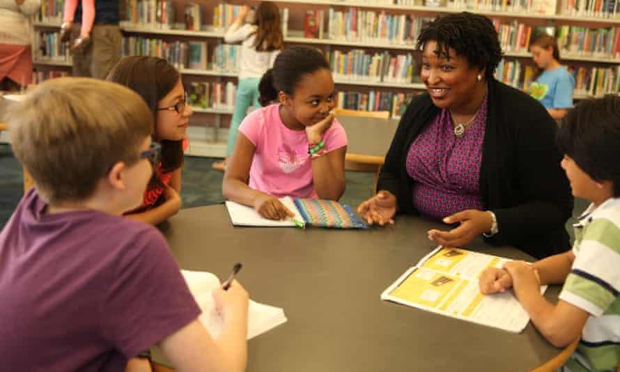 Stacey Abrams at Kirkwood Public Library, Atlanta