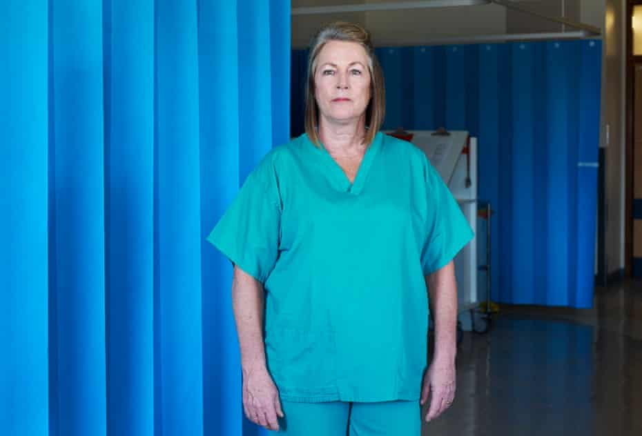Matron Deidre McFarlane, photographed in a newly converted intensive care unit that was not yet open