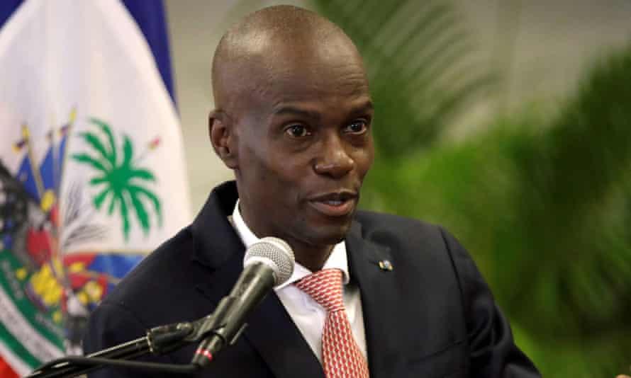 Haiti's president. Jovenel Moise