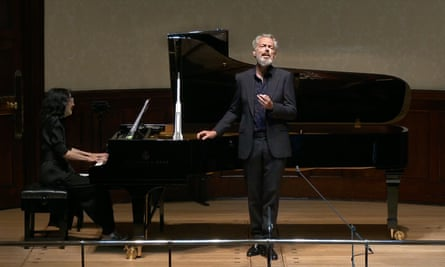 New expressive heights … Mark Padmore and Mitsuko Uchida perform Winterreise at the Wigmore Hall, London, in June.