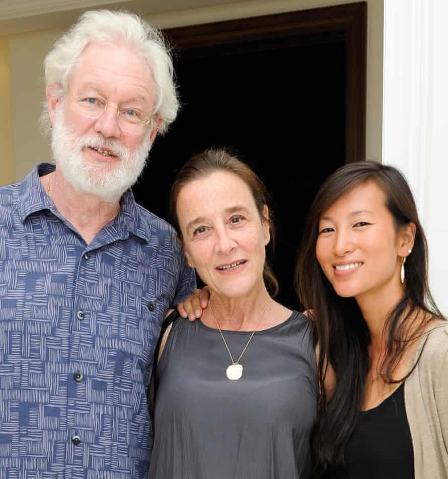 Arthur Felix Sackler, Laurie Sackler and Neoma Sackler on 24 February 2017 in Wellington, Florida.