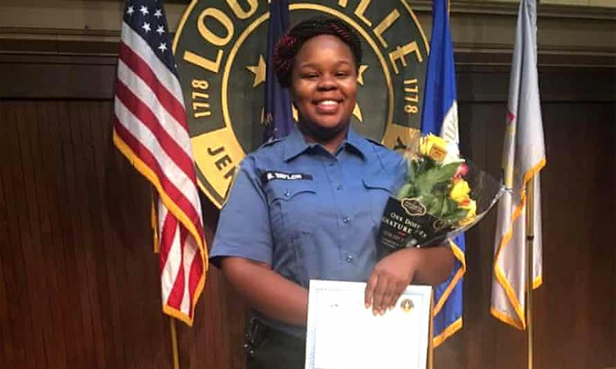Breonna Taylor, who was killed on 13 March when police fired more than 20 rounds into her apartment in Louisville.
