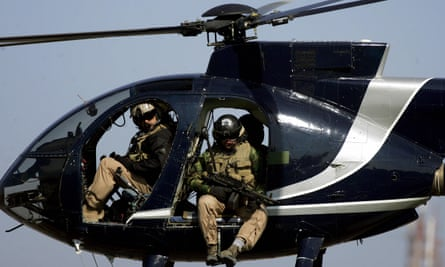 Contractors for the US-based Blackwater private security firm in Iraq in 2005.