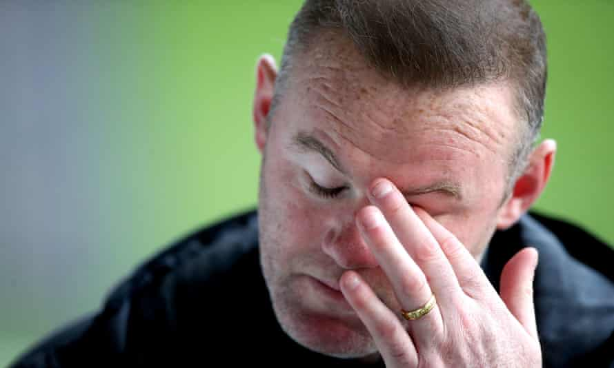 Wayne Rooney watched his Derby side suffer a sixth successive defeat against Swansea.