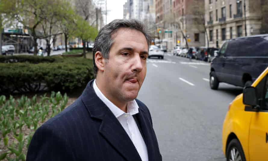 Michael Cohen, Trump's lawyer, in New York on Thursday.