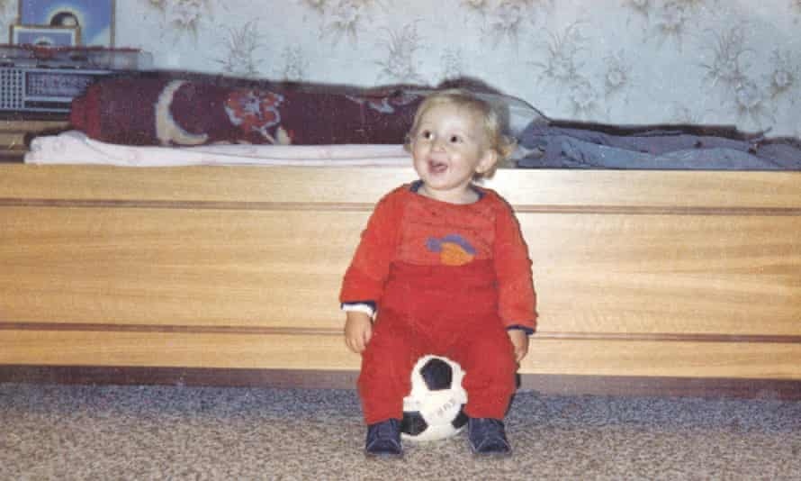 Luka Modric with his first football in 1986.