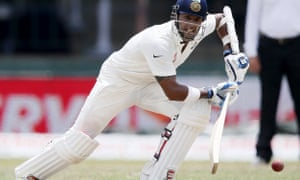 India's Binny plays a shot during the final 2015 test match against Sri Lanka.