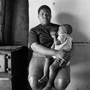 Queen Monyeki in her kitchen, 1388A White City, Jabavu, Soweto, September 1972.