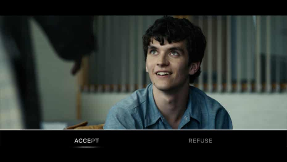 Click bait … viewers of Black Mirror: Bandersnatch choose the fate of Fionn Whitehead's character, Stefan.