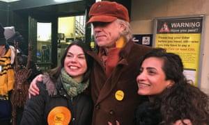 Bob Geldof campaigning in Richmond with Lib Dem candidate Sarah Olney.