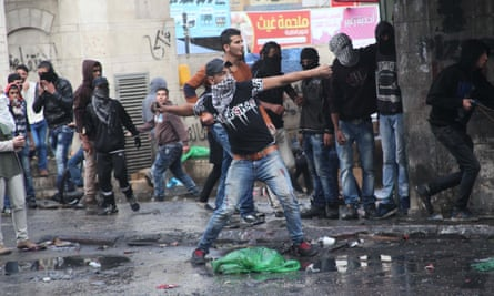 Clashes in Hebron, West Bank.