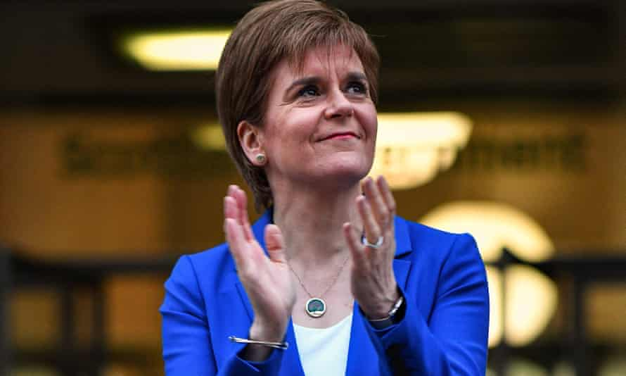 Sturgeon's promise to treat the Scottish public as 'grown-ups' will be seen as a veiled criticism of the UK government.