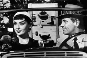 Audrey Hepburn and William Holden in Sabrina.
