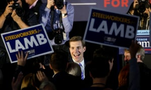 Conor Lamb on election night rally in Canonsburg.