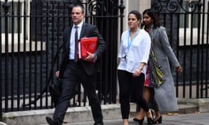 Dominic Raab leaving Number 10 yesterdy.