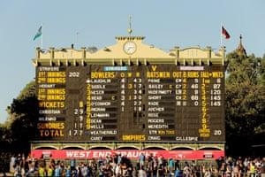 Adelaide oval scoreboard.