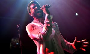 Jussie Smollett performs onstage at Troubadour.
