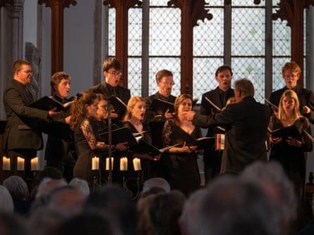 Tenebrae perform at Blythburgh church as part of Aldeburgh festival.