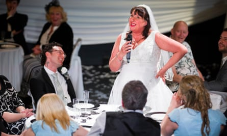 Louise Webster as the bride in Streetwise Opera's Tell Me the Truth About Love