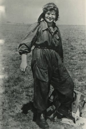 Tereshkova after a parachute jump, summer 1960.