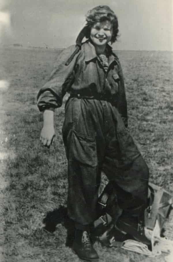 Tereshkova after a parachute jump, summer 1960.