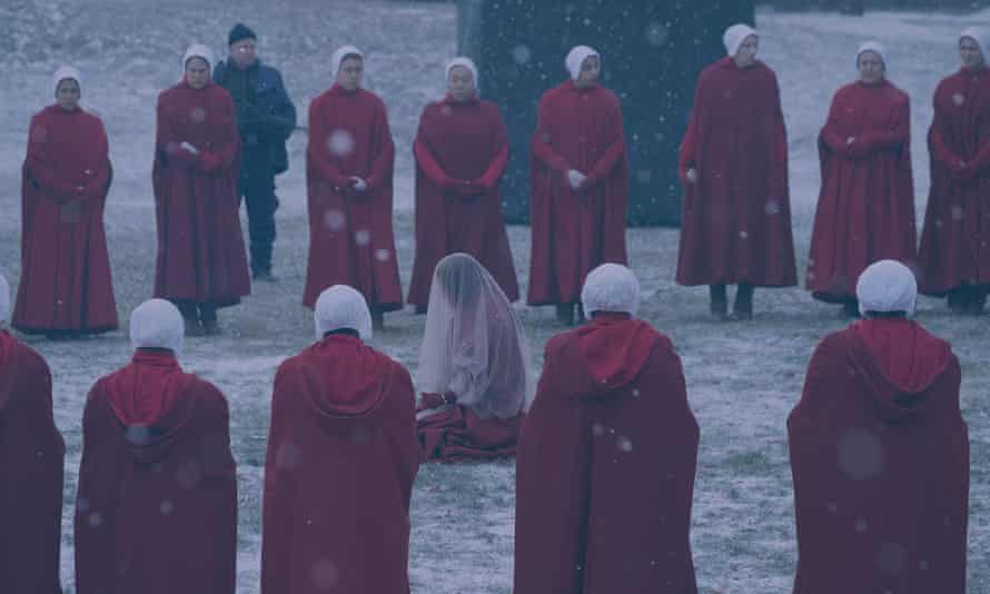 A scene from The Handmaid's Tale finale, Night.