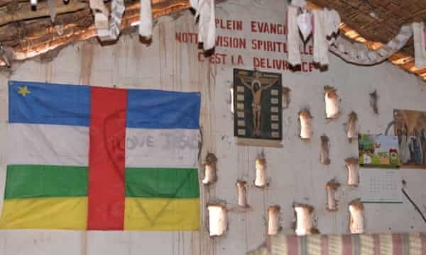 The interior of a church in Bossangoa, Central African Republic.