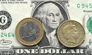 pound, euro, dollar