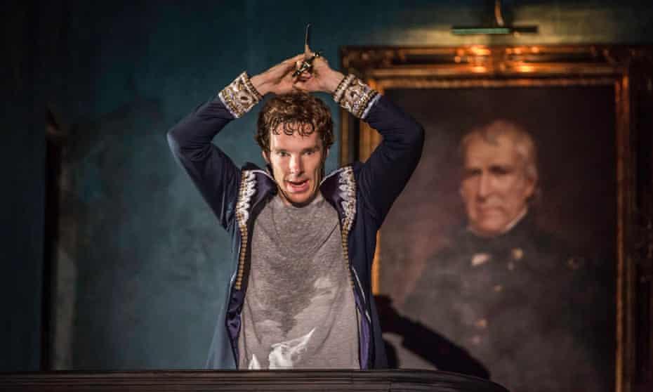 Benedict Cumberbatch as Hamlet at the Barbican.
