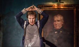 Benedict Cumberbatch as Hamlet in the production of the play at the Barbican centre, London.