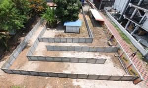 The maze outside the Aishwarya Restrobar in Kerala state