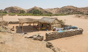 Settlement on the Namibian border with Angola